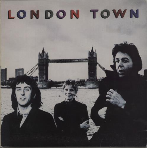 Paul McCartney and Wings London Town + Poster vinyl LP album (LP record) UK MCCLPLO69944
