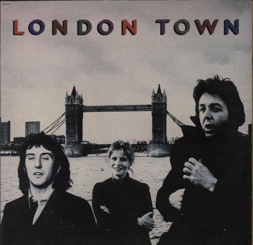 Paul McCartney and Wings London Town + Poster vinyl LP album (LP record) US MCCLPLO765851