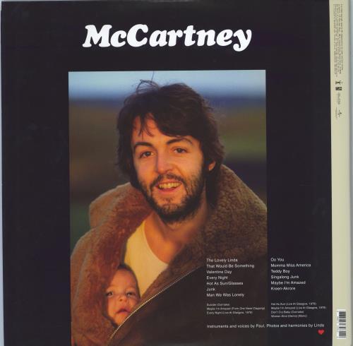 Paul McCartney and Wings McCartney - Remastered 2-LP vinyl record set (Double Album) UK MCC2LMC776999