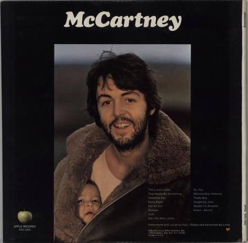 Paul McCartney and Wings McCartney - Scranton Pressing vinyl LP album (LP record) US MCCLPMC764816