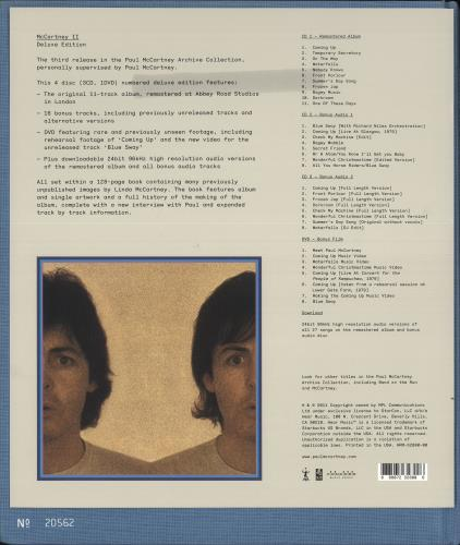 Paul McCartney and Wings McCartney II 3-disc CD/DVD Set UK MCC3DMC646560