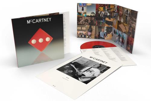 Paul McCartney and Wings McCartney III - Red Vinyl vinyl LP album (LP record) UK MCCLPMC755159