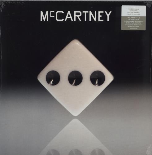 Paul McCartney and Wings McCartney III - White Vinyl vinyl LP album (LP record) UK MCCLPMC755158