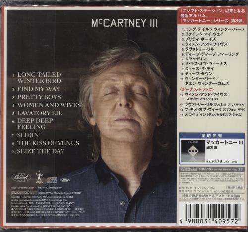 Paul McCartney and Wings McCartney III SHM CD Japanese MCCHMMC776253