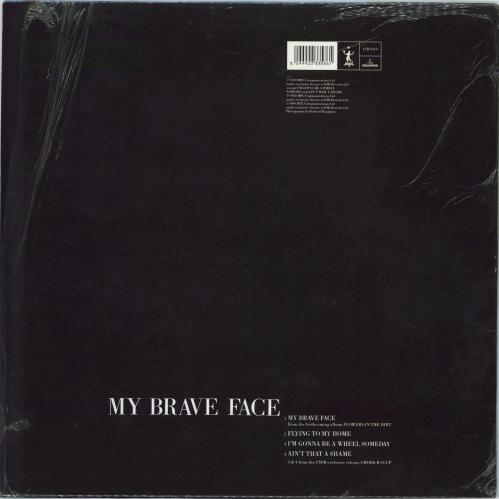 "Paul McCartney and Wings My Brave Face - Shrink 12"" vinyl single (12 inch record / Maxi-single) UK MCC12MY770987"