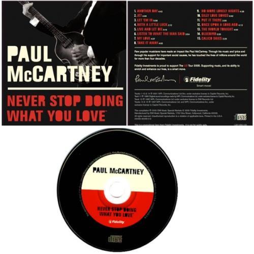 Paul McCartney and Wings Never Stop Doing What You Love CD album (CDLP) US MCCCDNE345802