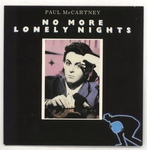 """Paul McCartney and Wings No More Lonely Nights - Mis-spelt - P/S 7"""" vinyl single (7 inch record) UK MCC07NO732301"""