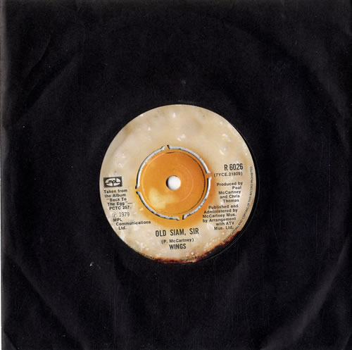 "Paul McCartney and Wings Old Siam, Sir 7"" vinyl single (7 inch record) UK MCC07OL335423"