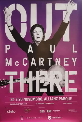 Paul McCartney and Wings Out There Tour 2014 poster Brazilian MCCPOOU688827
