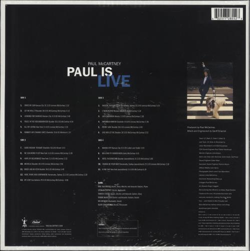 Paul McCartney and Wings Paul Is Live - 180gram Vinyl - Sealed 2-LP vinyl record set (Double Album) UK MCC2LPA725438