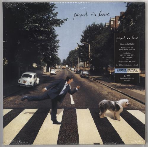 Paul McCartney and Wings Paul Is Live - Baby Blue & Peach White Vinyl - Sealed 2-LP vinyl record set (Double Album) UK MCC2LPA725436