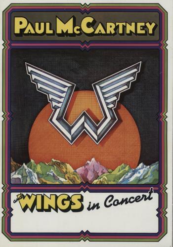 Paul McCartney and Wings Paul McCartney And Wings In Concert - EX tour programme UK MCCTRPA760258