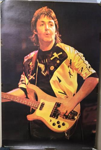 Paul McCartney and Wings Paul McCartney Onstage poster UK MCCPOPA726375