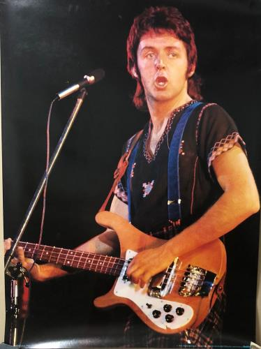 Paul McCartney and Wings Paul McCartney Onstage poster Swiss MCCPOPA726383