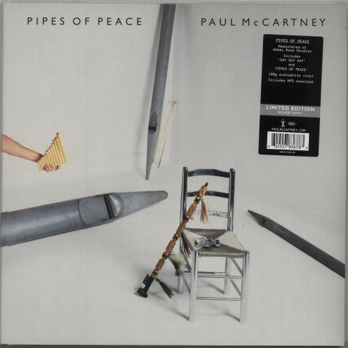 Paul McCartney and Wings Pipes Of Peace - 180gram Silver Vinyl + Sealed vinyl LP album (LP record) UK MCCLPPI688158