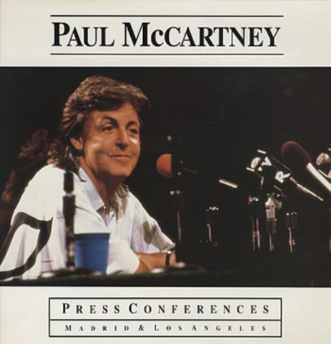 "Paul McCartney and Wings Press Conferences Madrid & Los Angeles + 7"" vinyl LP album (LP record) UK MCCLPPR224939"
