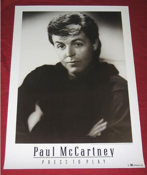 Paul McCartney and Wings Press To Play poster Japanese MCCPOPR351754