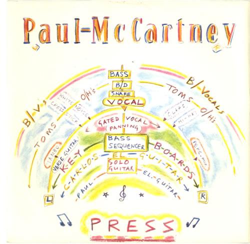 "Paul McCartney and Wings Press 7"" vinyl single (7 inch record) UK MCC07PR60949"