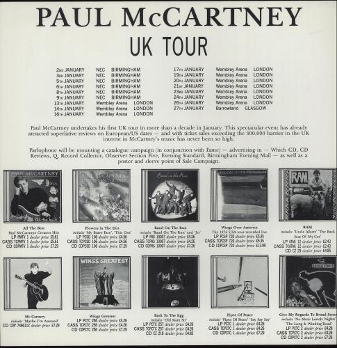 Paul McCartney and Wings Promotional Campaign Material memorabilia UK MCCMMPR643590