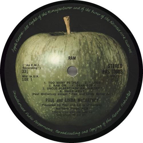 Paul McCartney and Wings Ram - 1st - EX vinyl LP album (LP record) UK MCCLPRA423623