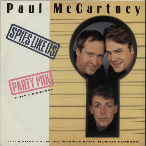 "Paul McCartney and Wings Spies Like Us 12"" vinyl single (12 inch record / Maxi-single) UK MCC12SP23946"