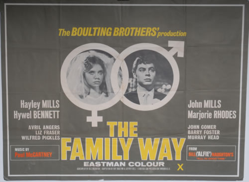 Paul McCartney and Wings The Family Way poster UK MCCPOTH591214