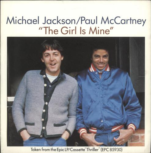 "Paul McCartney and Wings The Girl Is Mine 7"" vinyl single (7 inch record) UK MCC07TH146838"