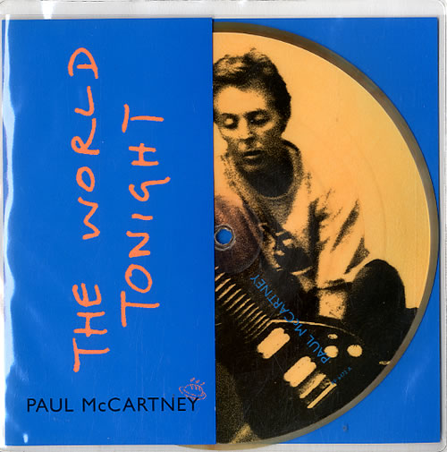 """Paul McCartney and Wings The World Tonight 7"""" vinyl picture disc 7 inch picture disc single UK MCC7PTH89471"""