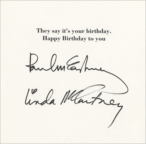 Paul McCartney and Wings They Say Its Your Birthday Birthday – What to Say on Birthday Cards