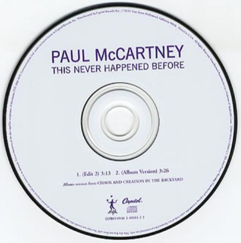"""Paul McCartney and Wings This Never Happened Before CD single (CD5 / 5"""") US MCCC5TH354997"""