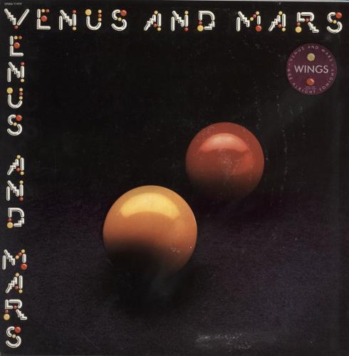 Paul McCartney and Wings Venus And Mars - Stickered Sleeve vinyl LP album (LP record) US MCCLPVE748908