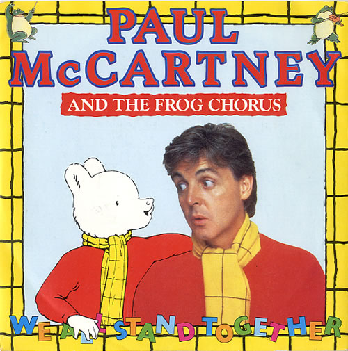 """Paul McCartney and Wings We All Stand Together - Inj 7"""" vinyl single (7 inch record) UK MCC07WE36924"""