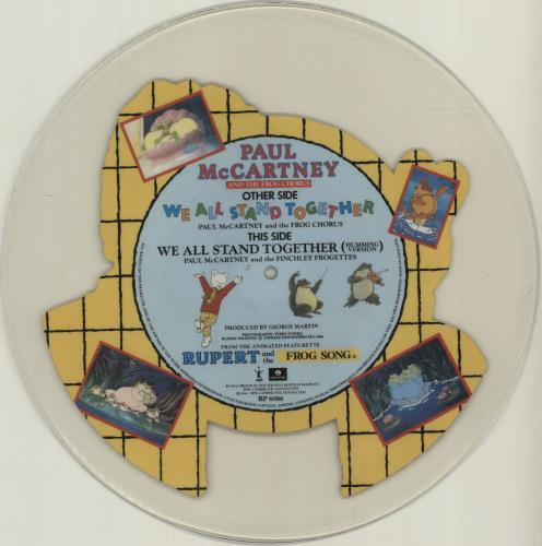Paul McCartney and Wings We All Stand Together uncut picture disc (vinyl) UK MCCUNWE52997