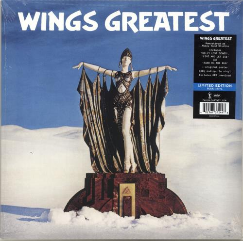 Paul McCartney and Wings Wings Greatest -180gram Blue Vinyl - Sealed vinyl LP album (LP record) UK MCCLPWI696741