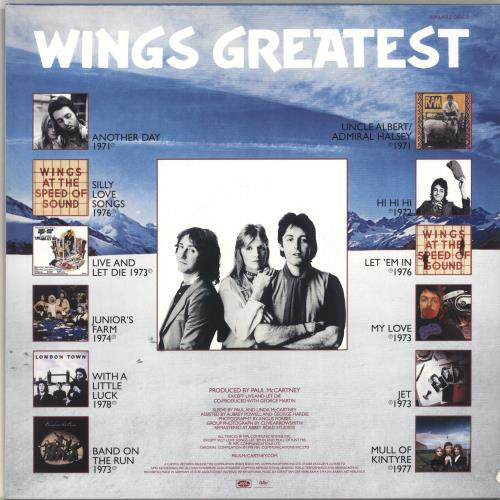 Paul McCartney and Wings Wings Greatest -180gram Blue Vinyl - Sealed vinyl LP album (LP record) UK MCCLPWI696741