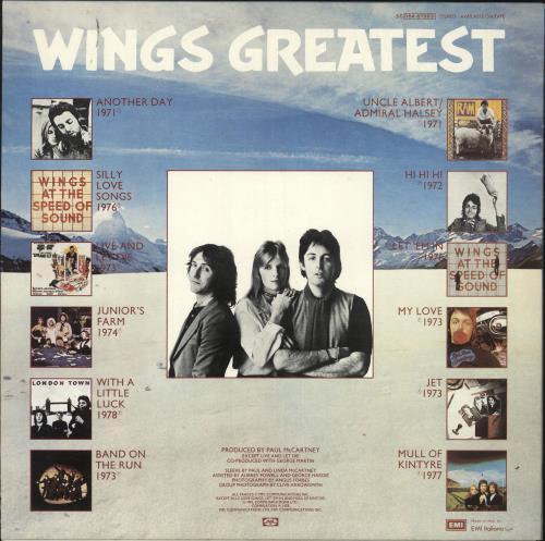 Paul McCartney and Wings Wings Greatest vinyl LP album (LP record) Italian MCCLPWI730809