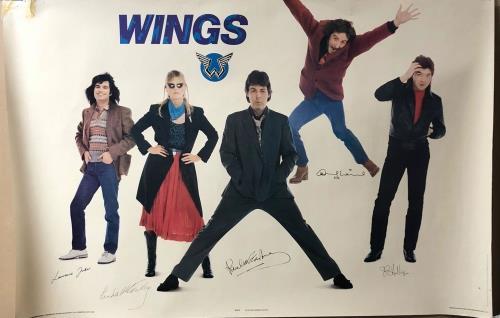 Paul McCartney and Wings Wings poster UK MCCPOWI726290