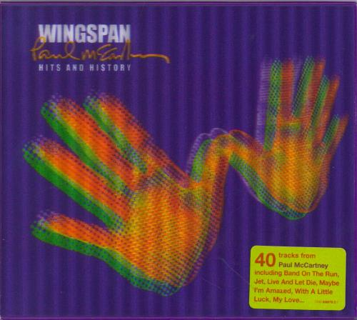 Paul McCartney and Wings Wingspan - Limited Edition - Hype-Stickered 2 CD album set (Double CD) UK MCC2CWI768245