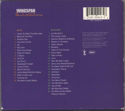Paul McCartney and Wings Wingspan - Limited Edition 2 CD album set (Double CD) US MCC2CWI768244