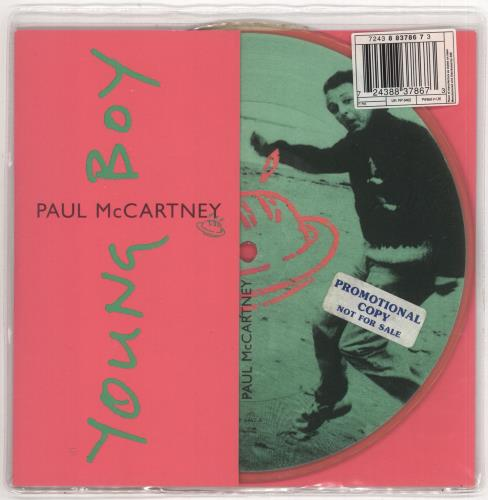 "Paul McCartney and Wings Young Boy - Promo Stickered 7"" vinyl picture disc 7 inch picture disc single UK MCC7PYO722818"