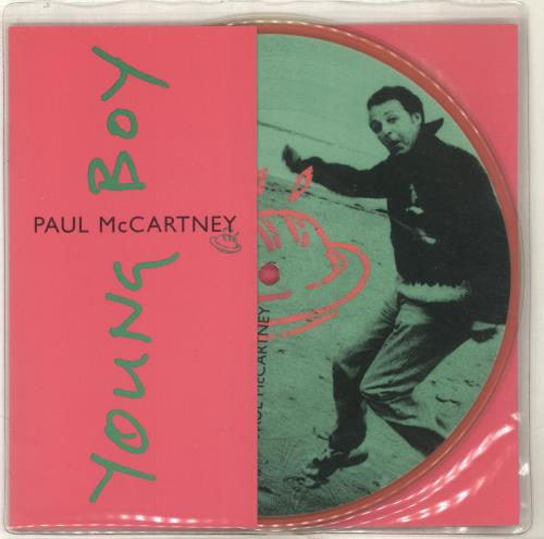 """Paul McCartney and Wings Young Boy 7"""" vinyl picture disc 7 inch picture disc single UK MCC7PYO84713"""