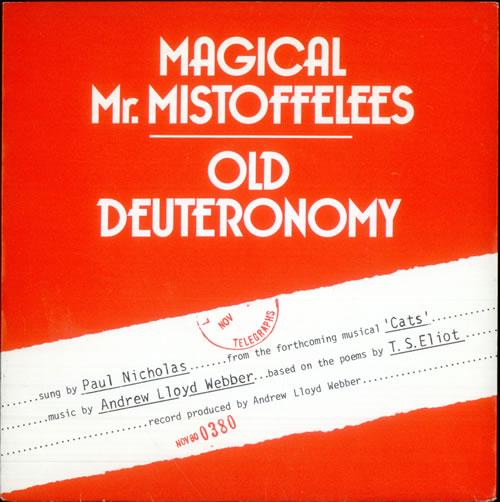 "Paul Nicholas Magical Mr. Mistoffelees 7"" vinyl single (7 inch record) UK PN207MA515870"
