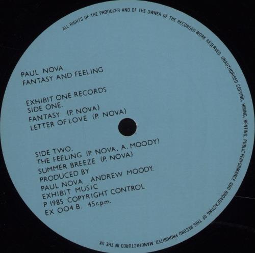 "Paul Nova Fantasy And Feeling - Autographed 12"" vinyl single (12 inch record / Maxi-single) UK QBU12FA675103"
