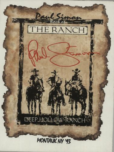 Paul Simon Back At The Ranch tour programme US PSITRBA681421