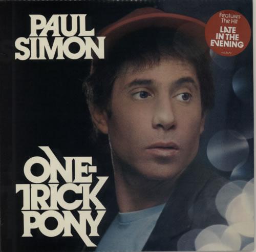 Paul Simon One Trick Pony - Stickered Sleeve vinyl LP album (LP record) US PSILPON443657