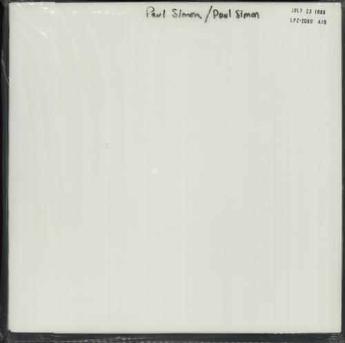 Paul Simon Paul Simon - DCC - Test Pressing - Sealed vinyl LP album (LP record) US PSILPPA670390
