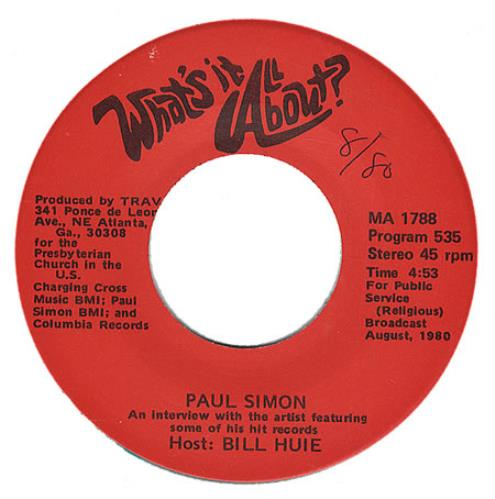 "Paul Simon What's It All About 7"" vinyl single (7 inch record) US PSI07WH205566"