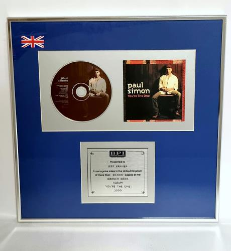 Paul Simon You're The One award disc UK PSIAWYO184446