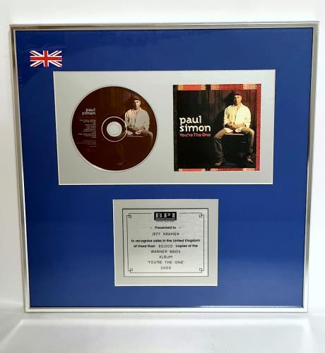 Paul Simon You're The One award disc UK PSIAWYO184446
