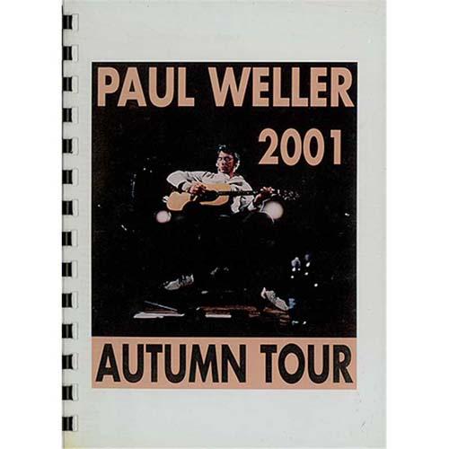 Paul Weller 2001 Autumn Tour Itinerary Itinerary UK WELBKAU406229